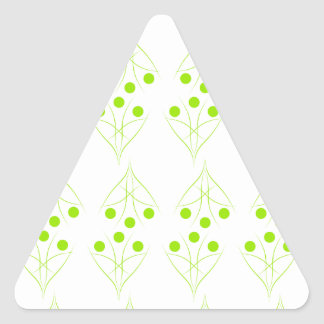 Eco tree triangle sticker
