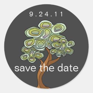 Eco Tree Wedding Classic Round Sticker