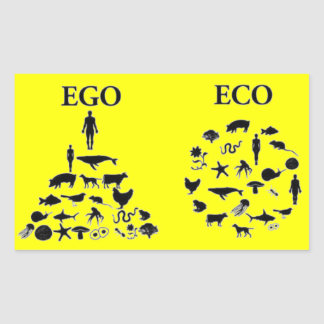Eco vs Ego Rectangular Sticker