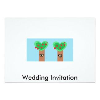 Eco Wedding 13 Cm X 18 Cm Invitation Card