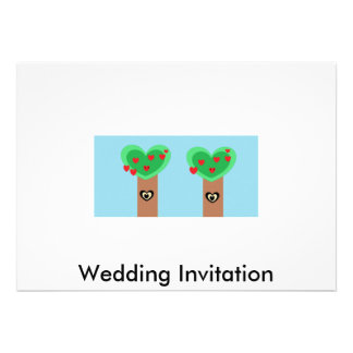 Eco Wedding Personalized Invite