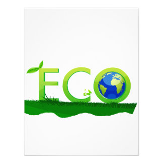 eco with globe as word on grass png personalized invitation