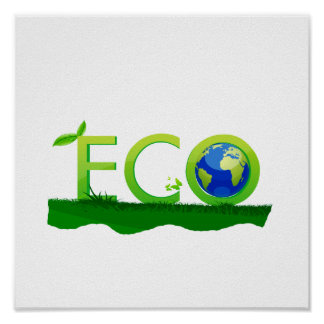 eco with globe as  word on grass.png print