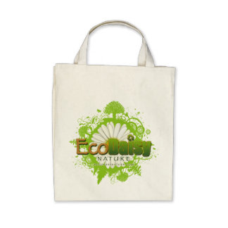 EcoDaisy Organic Grocery Tote Canvas Bags