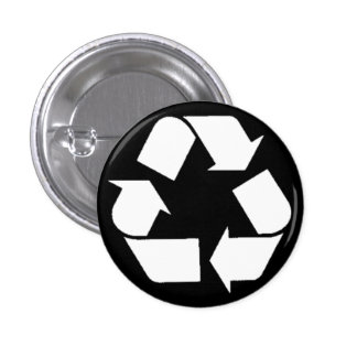 EcoFlair - Recycle. 3 Cm Round Badge