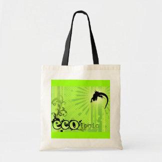 Ecologic Causes Environment Awareness Gecko green Canvas Bag