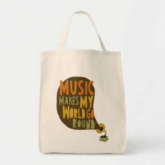 """Ecological bag """"Music makes my world go round """""""