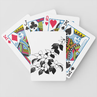 ecological floral flowers leaf bicycle playing cards