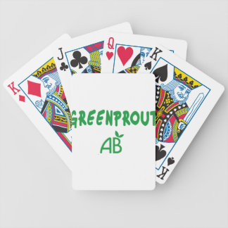 Ecological Greenprout Bicycle Playing Cards