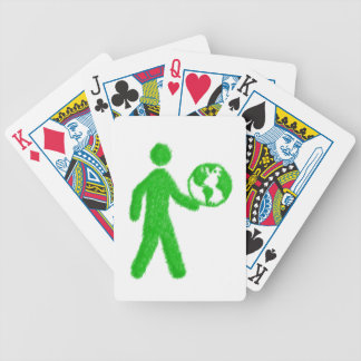 Ecological man bicycle playing cards