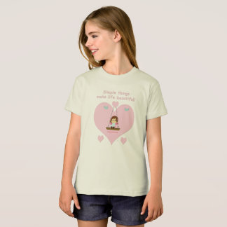 "Ecological T-shirt for girl ""Beautiful LIfe """