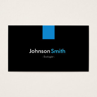 Ecologist Modern Aqua Blue Business Card