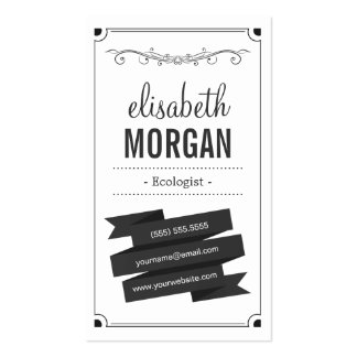 Ecologist - Retro Black and White Pack Of Standard Business Cards
