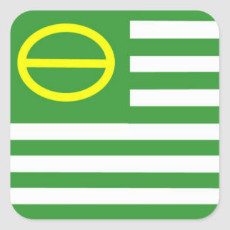 Ecology Flag Square Sticker