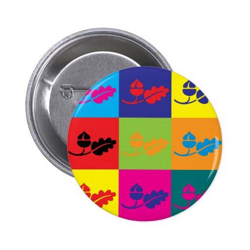 Ecology Pop Art Pinback Button