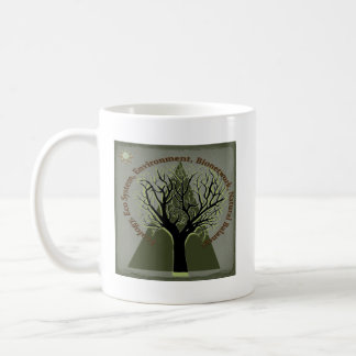 Ecology Tree, Think Green Classic White Coffee Mug