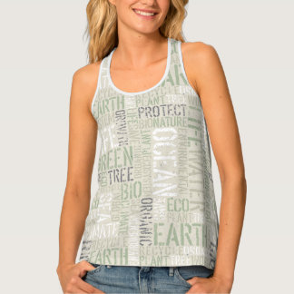 Ecology Words All-Over Print Tank Top