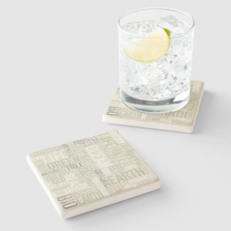 Ecology Words Stone Coaster