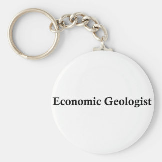 Economic geologist basic round button key ring