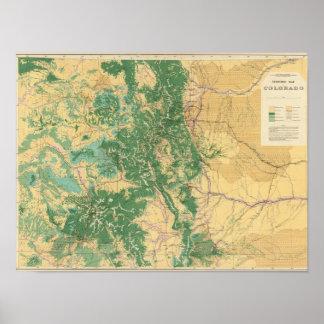 Economic Map of Colorado Poster