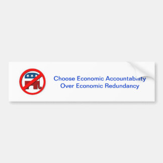 Economic Plan Bumper Sticker