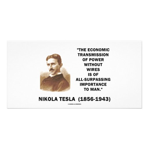Economic Transmission Of Power Without Wires Picture Card