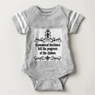 Economical Decisions Kill The Progress Medieval Baby Bodysuit