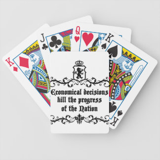 Economical Decisions Kill The Progress Medieval Bicycle Playing Cards