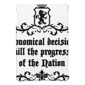 Economical Decisions Kill The Progress Medieval iPad Mini Cover