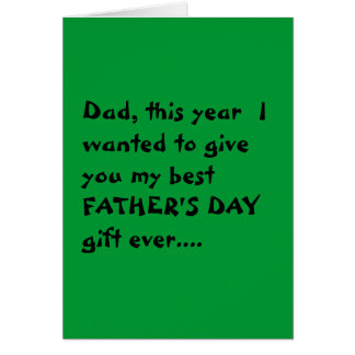 """Economical"" Father's Day card"