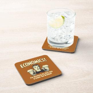 Economics: Drinking Lower Tax Bracket Beverage Coasters