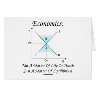 Economics Not Matter Of Life Or Death Equilibrium Card