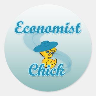 Economist Chick #3 Round Sticker