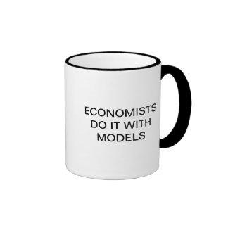 ECONOMISTS DO IT WITH MODELS CUP RINGER MUG
