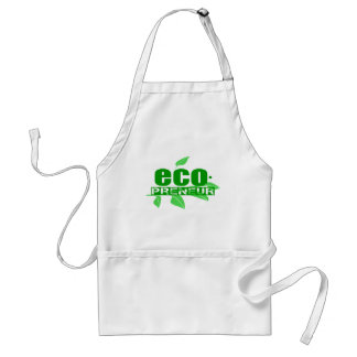 Ecopreneur With Leaves, Branch And Dot Hyphen Apron
