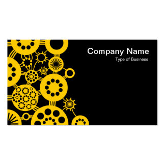 Ecosystem - Amber on Black Business Card Template