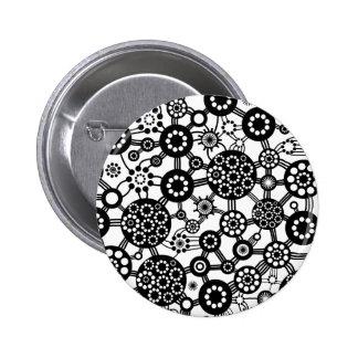 Ecosystem - Black on White 6 Cm Round Badge