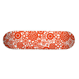 Ecosystem - Brick Red on White Skate Boards