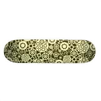 Ecosystem - Cream on Dark Olive Skateboards