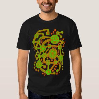 Ecosystem III - Orange and Chartreus Tee Shirts