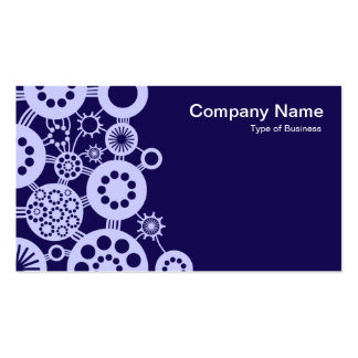 Ecosystem - Powder Blue on Deep Indigo 150a51 Pack Of Standard Business Cards