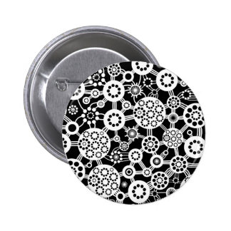 Ecosystem - White on Black 6 Cm Round Badge
