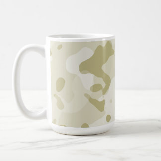 Ecru Camo; Camouflage Coffee Mugs