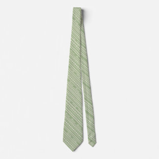"Ecru ""Meow"" Paw Print Stripe Tie w/ Any Background"