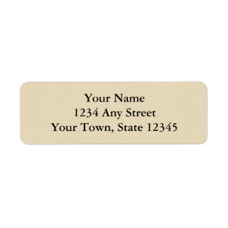 Ecru or Beige Printed Return Address Labels