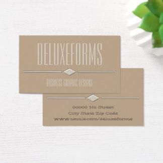 Ecru White Diamond Line Business Card