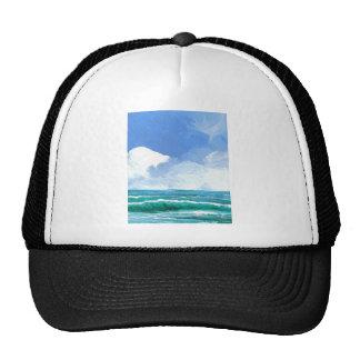 Ecstacy Ocean Beach Waves Surf Art Gifts Mesh Hats
