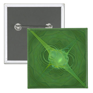 Ectoplasm Abstract Art 15 Cm Square Badge