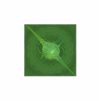 Ectoplasm Abstract Art Photo Sculpture Badge