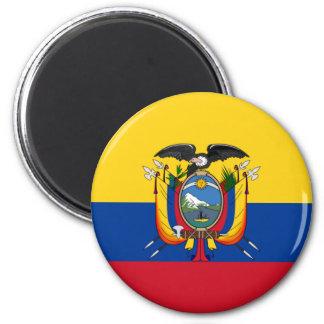 Ecuador 6 Cm Round Magnet